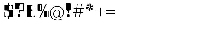 EF Countdown Regular Font OTHER CHARS