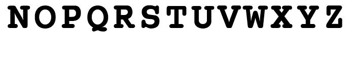 EF Courier B Bold Font UPPERCASE