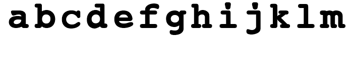 EF Courier B Bold Font LOWERCASE