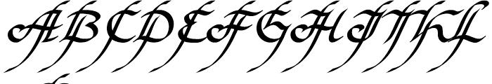 EF Elf Bold Font UPPERCASE