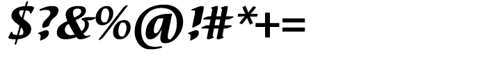 EF Elysa Heavy Italic Font OTHER CHARS