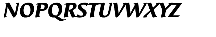 EF Elysa Heavy Italic Font UPPERCASE