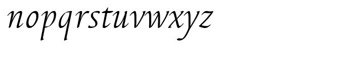 EF Elysa Light Italic Swash 1 Font LOWERCASE
