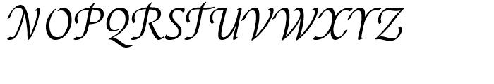 EF Elysa Light Italic Swash 2 Font UPPERCASE
