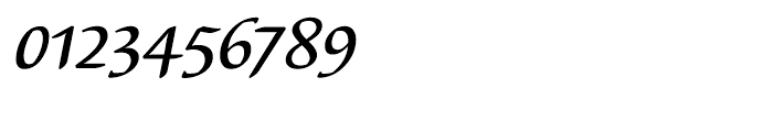 EF Elysa Medium Italic OsF Font OTHER CHARS