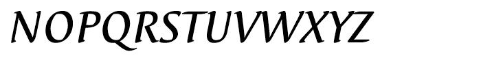 EF Elysa Medium Italic OsF Font UPPERCASE