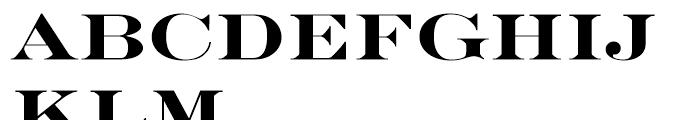 EF Engravers Bold Font UPPERCASE