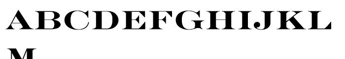 EF Engravers Bold Font LOWERCASE