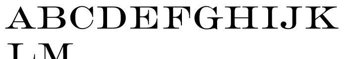 EF Engravers Roman Font UPPERCASE