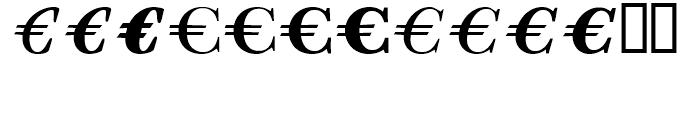 EF EuroSerif Six Font UPPERCASE