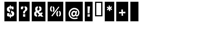 EF Ferro Stencil Metal Cut Negative Font OTHER CHARS