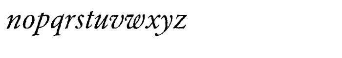 EF Garamond Rough H Regular Italic Font LOWERCASE