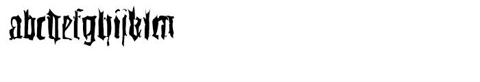 EF Gutenbergs Traces Regular Font LOWERCASE