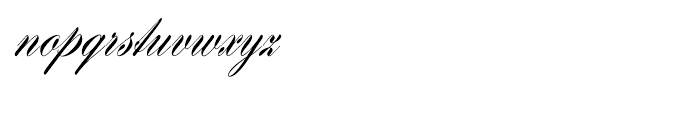 EF Hogarth Script Regular Font LOWERCASE