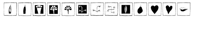 EF Imagination Black Box Font LOWERCASE