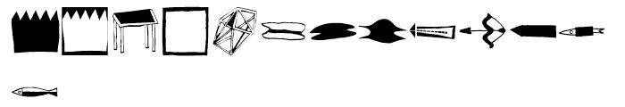 EF Imagination Black Font UPPERCASE