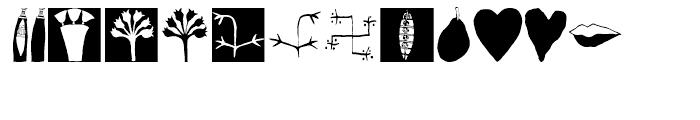 EF Imagination Black Font LOWERCASE