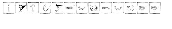 EF Imagination Fisheyes Box Font LOWERCASE