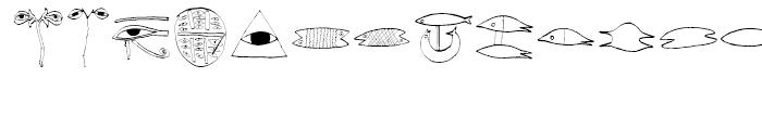 EF Imagination Fisheyes Font UPPERCASE