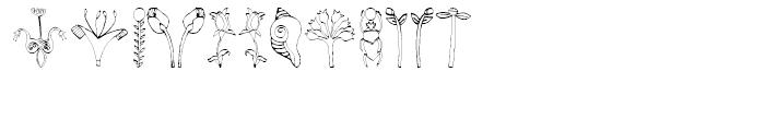 EF Imagination Flowers Font LOWERCASE
