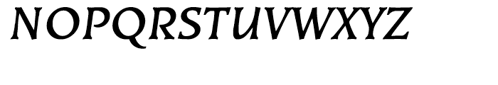 EF Kiev Bold Oblique Font UPPERCASE