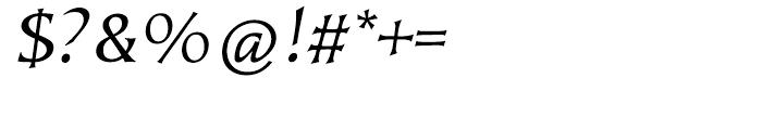 EF Kiev Regular Oblique SC Turkish Font OTHER CHARS
