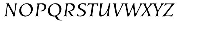 EF Kiev Regular Oblique Turkish Font UPPERCASE