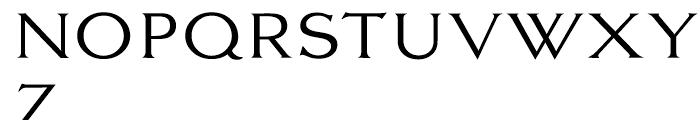 EF Largo Light Font UPPERCASE