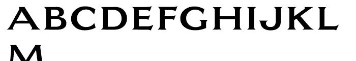 EF Largo Medium Font UPPERCASE
