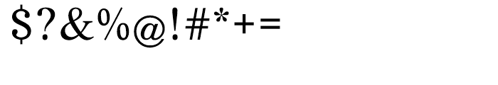 EF Life Regular Font OTHER CHARS
