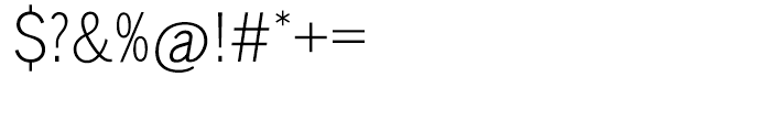EF Lightline Gothic Turkish Regular Font OTHER CHARS