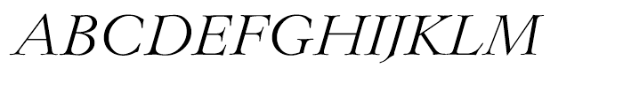 EF Lingwood Light Italic Font UPPERCASE