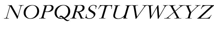 EF Lingwood Regular Italic Font UPPERCASE