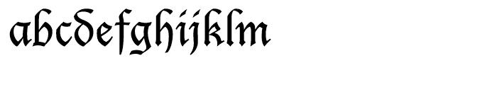 EF Lucida Blackletter CE Font LOWERCASE