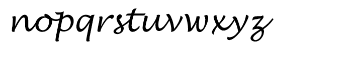 EF Lucida Handwriting Regular Font LOWERCASE