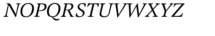 EF Magna CE Italic Font UPPERCASE