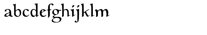 EF Medieva Regular Font LOWERCASE
