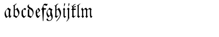 EF Neue Luthersche Fraktur Regular Alternate Font LOWERCASE
