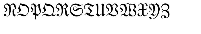 EF Neue Luthersche Fraktur Regular Font UPPERCASE