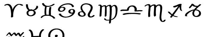 EF Optiscope Astro Font UPPERCASE