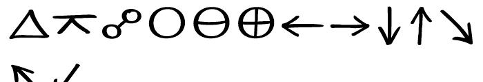 EF Optiscope Astro Font LOWERCASE