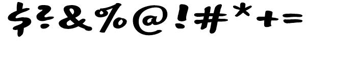 EF Optiscript Bold Alt Font OTHER CHARS