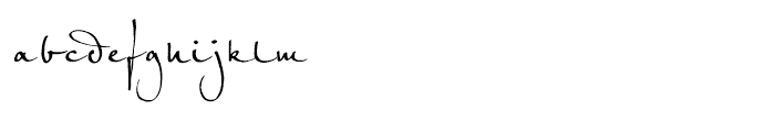 EF Petras Script Regular Font LOWERCASE