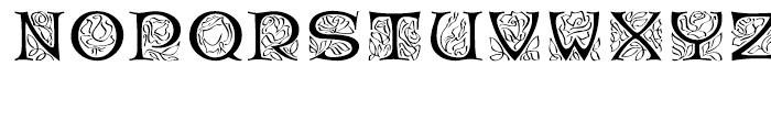 EF Rose Garden Regular Font UPPERCASE
