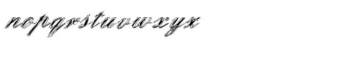 EF StealPlate Regular Font LOWERCASE