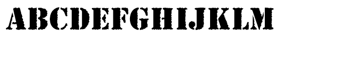 EF Stencil Antiqua Reg Rough Font UPPERCASE