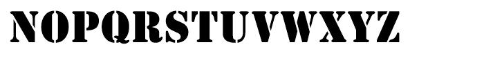 EF Stencil Antiqua Reg Font UPPERCASE