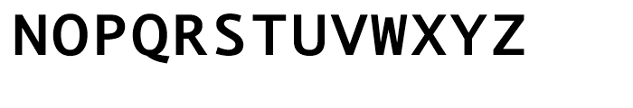 EF Thordis Sans Mono T Bold Font UPPERCASE