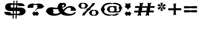 EF Thunderbird Regular Font OTHER CHARS