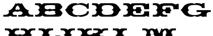 EF Thunderbird Regular Font UPPERCASE